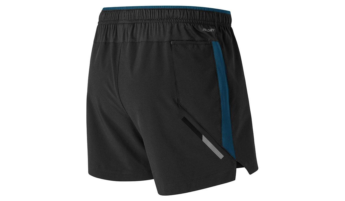 "Men's New Balance Impact 5"" Shorts - Color: Black/Blue Size: M, Black/Blue, large, image 2"