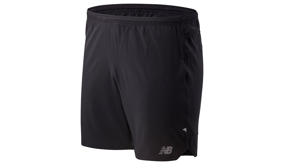 "Men's New Balance Impact Run 7"" Short  - Color: Black Size: S, Black, large, image 1"