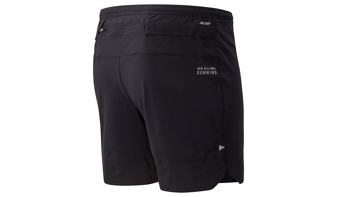 "Men's New Balance Impact Run 7"" Short  - Color: Black Size: S, Black, large, image 2"