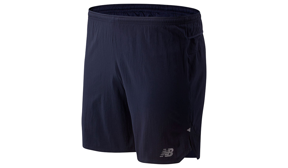 "Men's New Balance Impact Run 7"" Short - Color: Eclipse Size: M, Dark Blue, large, image 1"