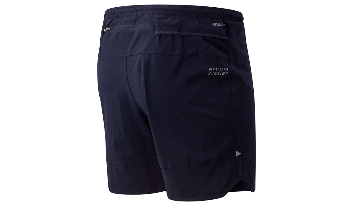 "Men's New Balance Impact Run 7"" Short - Color: Eclipse Size: M, Dark Blue, large, image 2"