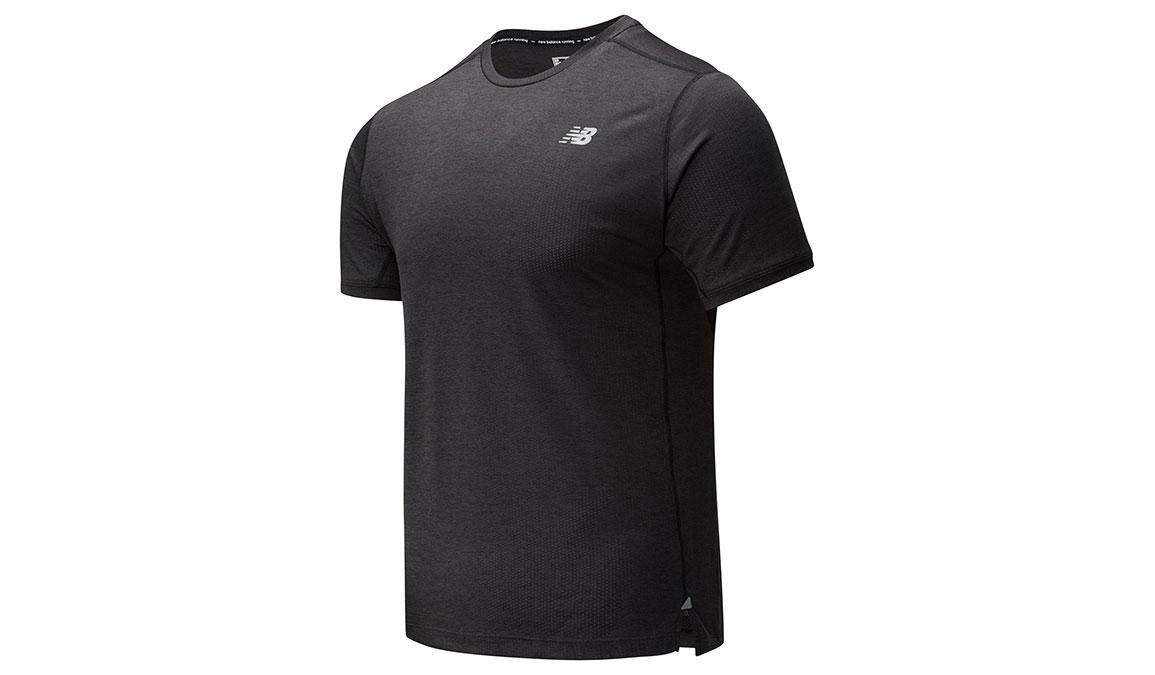 Men's New Balance Impact Run Short Sleeve - Color: Black Heather Size: S, Black Heather, large, image 1