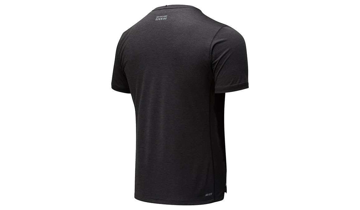 Men's New Balance Impact Run Short Sleeve - Color: Black Heather Size: S, Black Heather, large, image 2