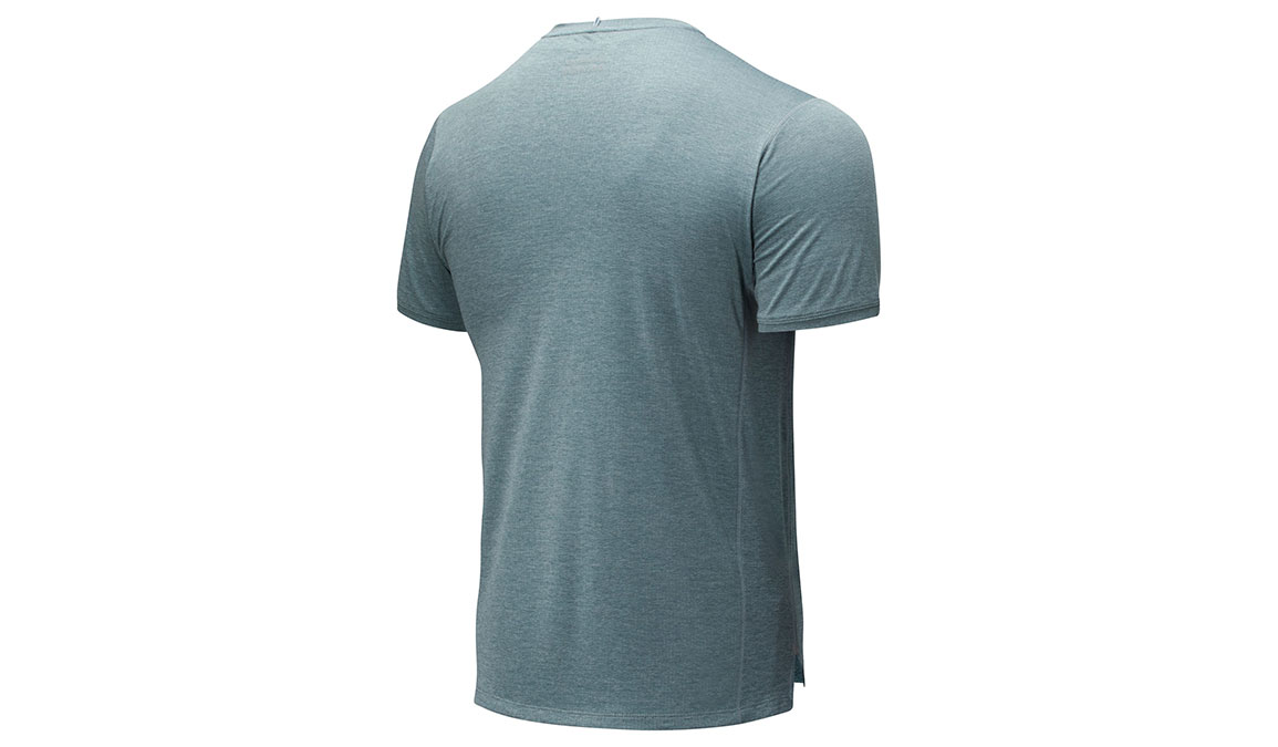 Men's New Balance Impact Run Short Sleeve - Color: Light Slate Size: S, Slate, large, image 2
