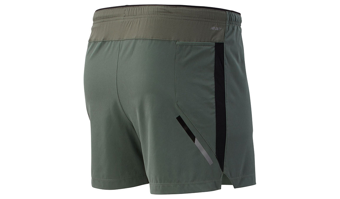 "Men's New Balance Impact Short 5"" - Color: Slate Green Size: S, Light Green, large, image 2"