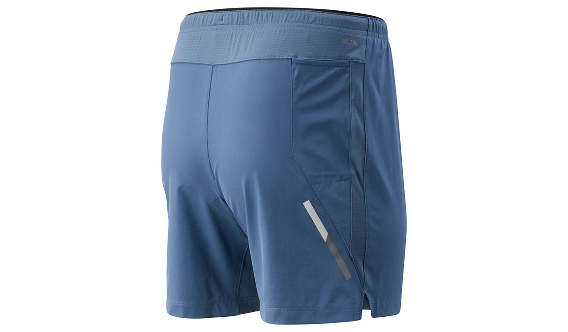 """Men's New Balance Impact Short 7"""" - Color: Chambray Size: M, Blue/Silver, large, image 2"""