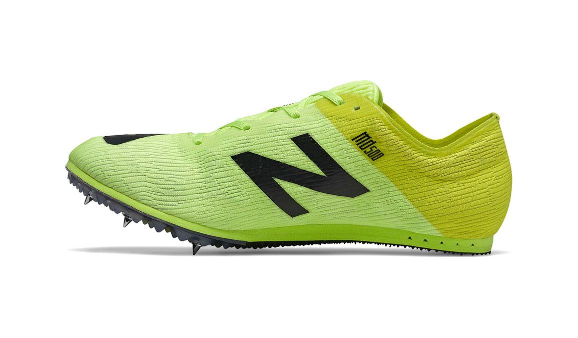 Men's New Balance MD500v7 Track Spike  - Color: Sulphur Yellow (Regular Width) - Size: 8.5, Yellow/Black, large, image 2