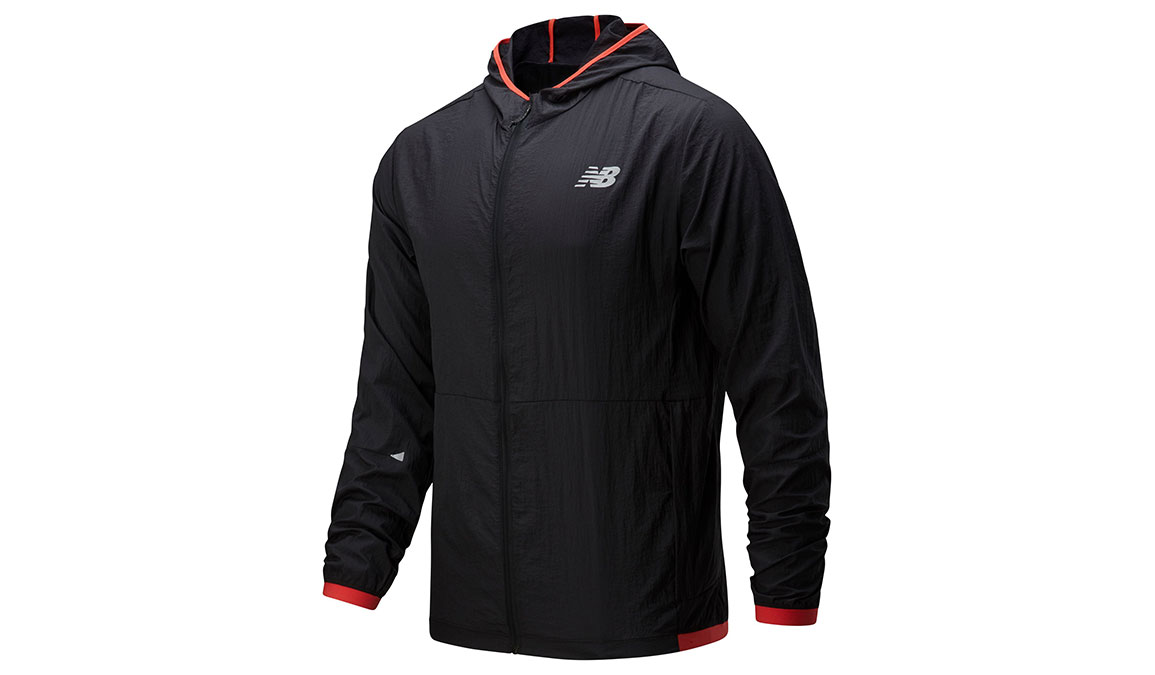 Men's New Balance Printed Impact Run Light Pack Jacket - Color: Black Size: XXL, Black, large, image 3