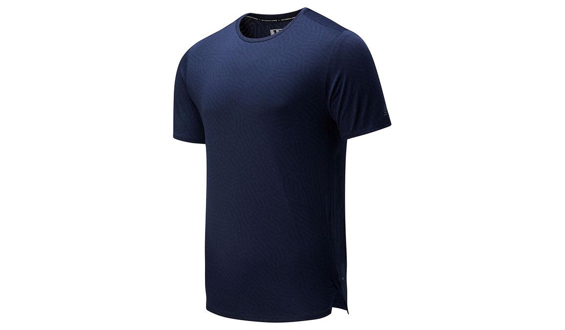 Men's New Balance Q Speed Jacquard Short Sleeve - Color: Eclipse Heather Size: L, Blue Heather, large, image 1