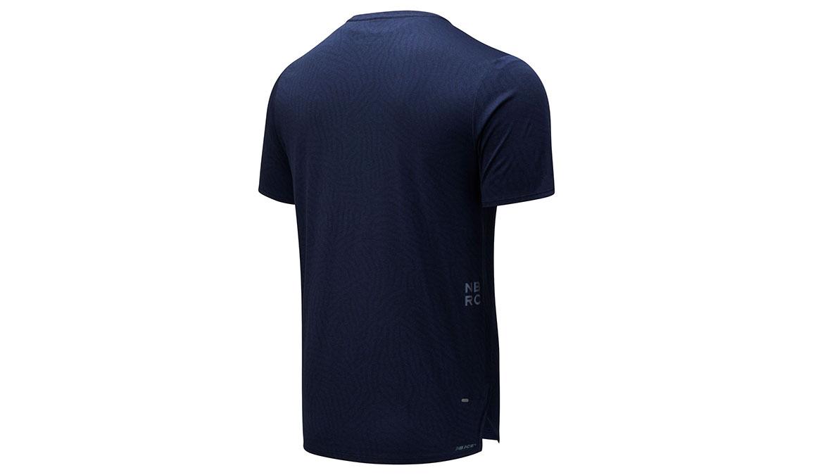 Men's New Balance Q Speed Jacquard Short Sleeve - Color: Eclipse Heather Size: L, Blue Heather, large, image 2
