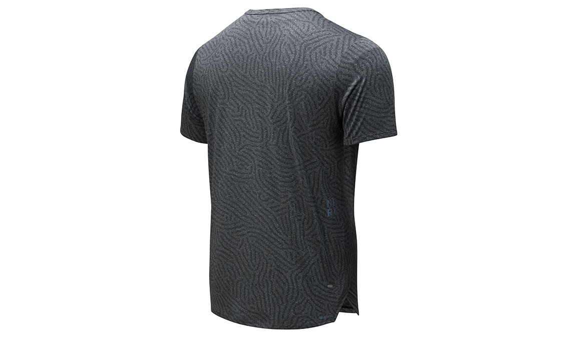 Men's New Balance Q Speed Jacquard Short Sleeve - Color: Heather Charcoal Size: L, Heather Charcoal, large, image 2