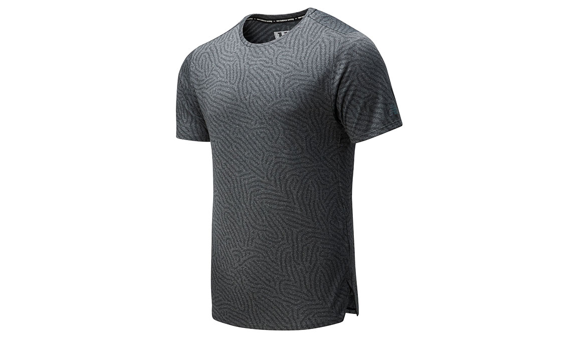 Men's New Balance Q Speed Jacquard Short Sleeve - Color: Heather Charcoal Size: L, Heather Charcoal, large, image 1
