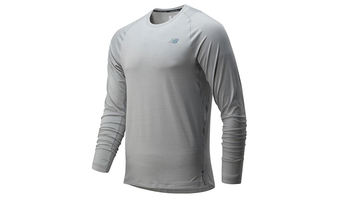 Men's New Balance Q Speed Seasonless Long Sleeve - Color: Grey Size: XXL, Grey, large, image 1