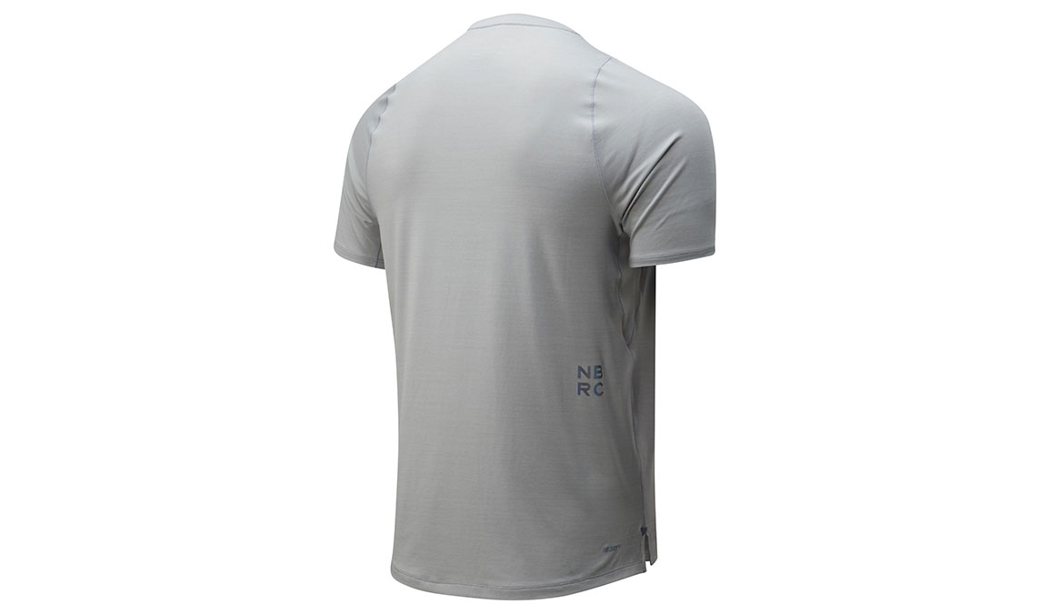 Men's New Balance Q Speed Seasonless Short Sleeve - Color: Grey Size: S, Grey, large, image 2