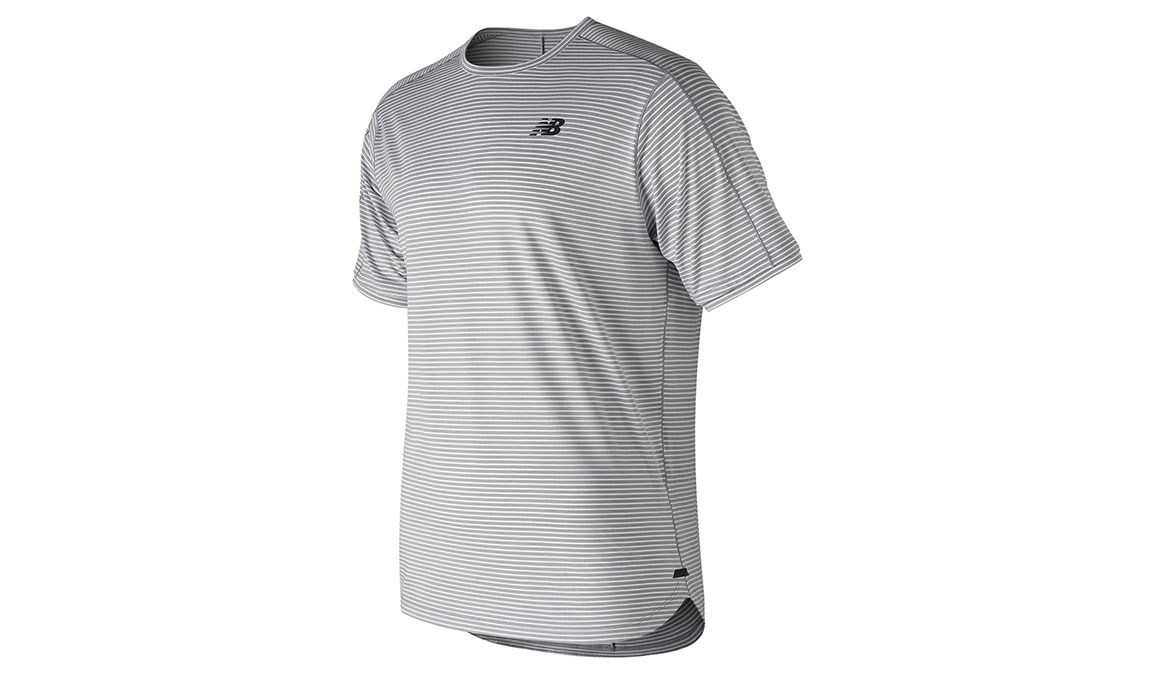Men's New Balance Q Speed Shadow Short Sleeve  - Color: Athletic Grey Size: S, Grey, large, image 1