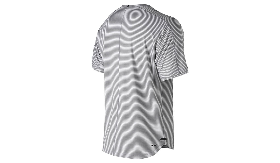 Men's New Balance Q Speed Shadow Short Sleeve  - Color: Athletic Grey Size: S, Grey, large, image 2