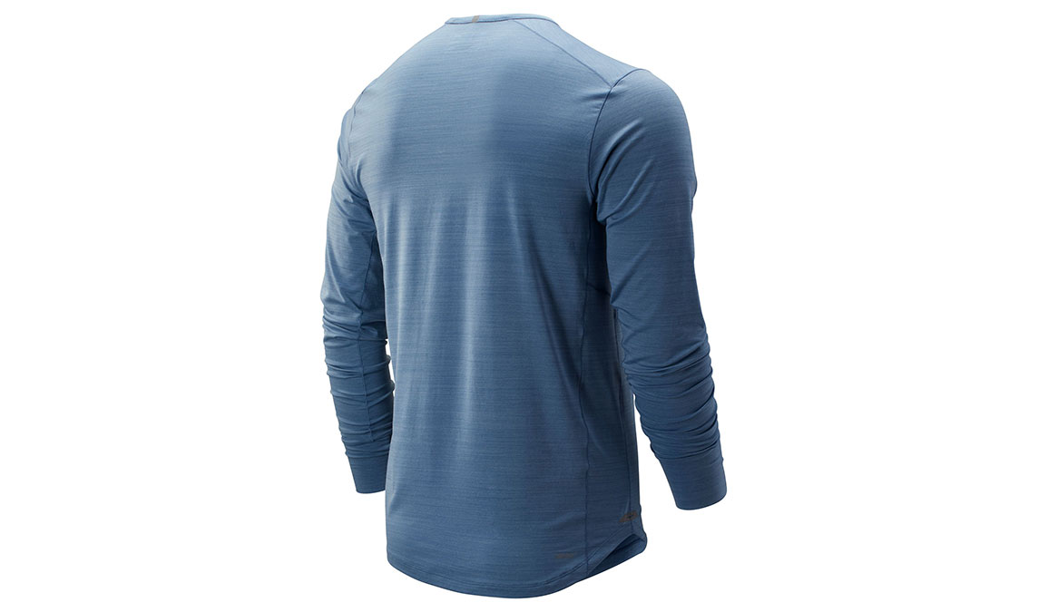 Men's New Balance Seasonless Long Sleeve - Color: Chambray Size: S, Blue, large, image 2