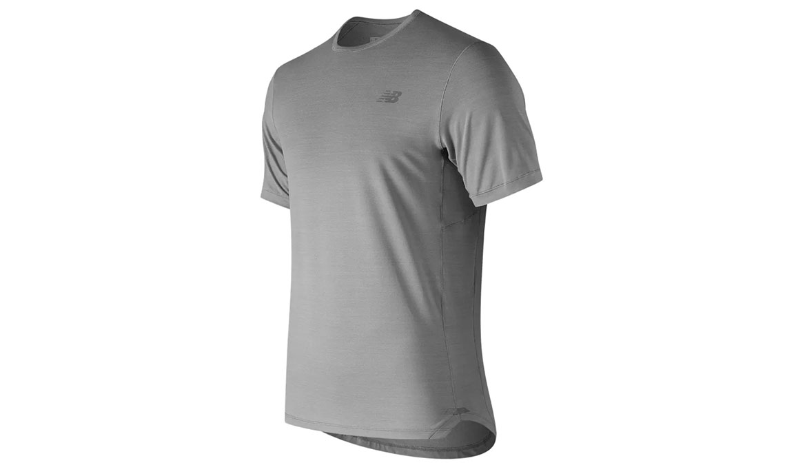Men's New Balance Seasonless Short Sleeve Shirt - Color: Athletic Grey Size: M, Grey, large, image 1