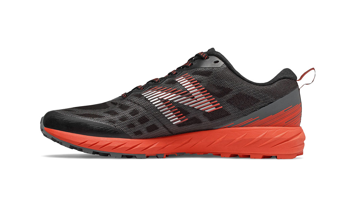 Men's New Balance Summit Unknown Gore-Tex Trail Running Shoe - Color: Black/Coral Glow (Regular Width) - Size: 8, Black/Coral, large, image 2