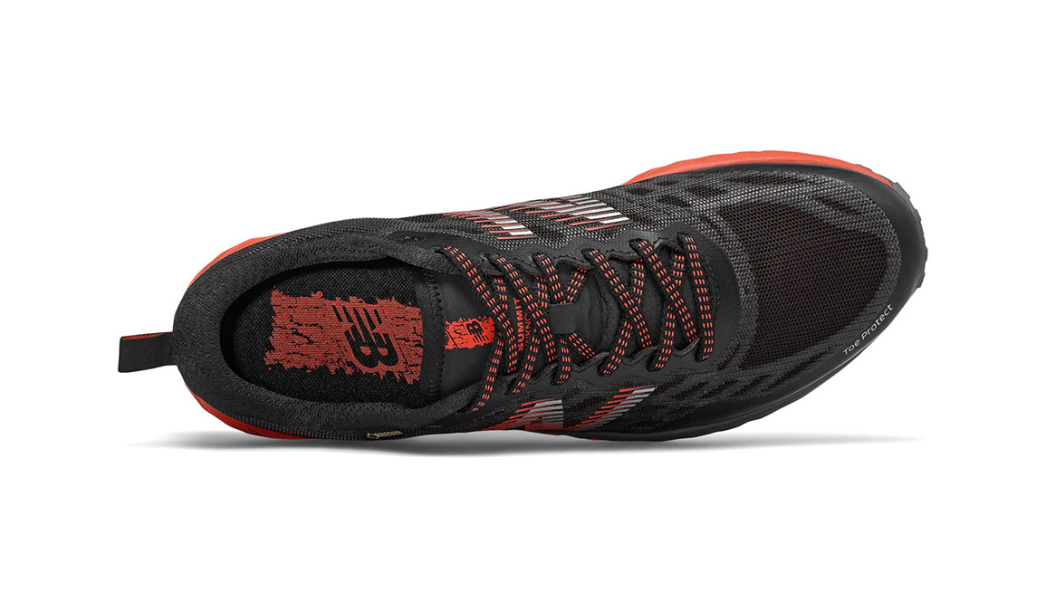 Men's New Balance Summit Unknown Gore-Tex Trail Running Shoe - Color: Black/Coral Glow (Regular Width) - Size: 8, Black/Coral, large, image 3