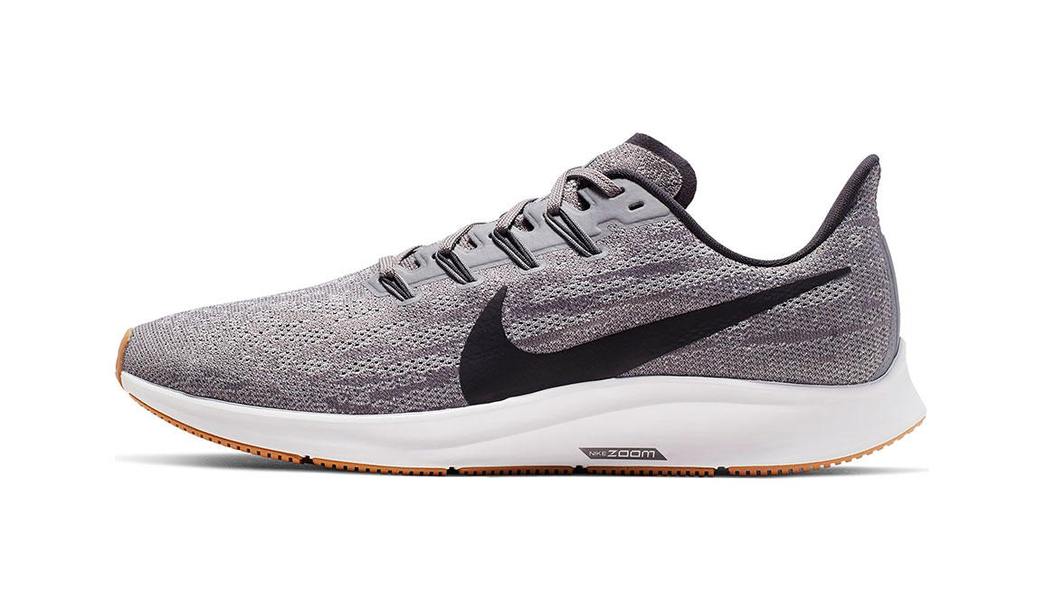 Men's Nike Air Zoom Pegasus 36 Running Shoe - Color: Gunsmoke/Oil Grey/White (Regular Width) - Size: 6, Gunsmoke/Oil Grey/White, large, image 3