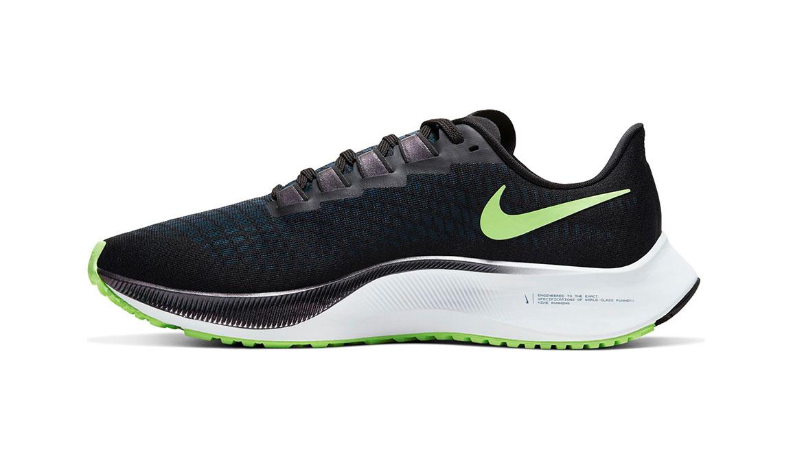 Men's Nike Air Zoom Pegasus 37 Running Shoe - Color: Black/Lime Blast/Valerian Blue/White (Regular Width) - Size: 7, Black/Lime Blast/Valerian Blue/White, large, image 2