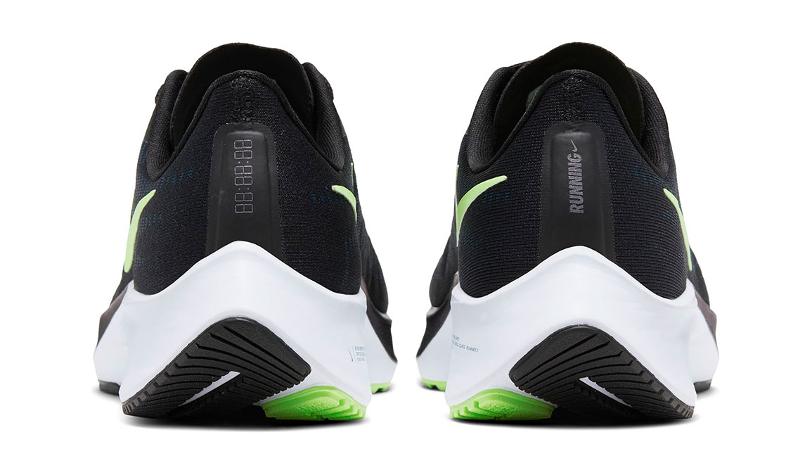 Men's Nike Air Zoom Pegasus 37 Running Shoe - Color: Black/Lime Blast/Valerian Blue/White (Regular Width) - Size: 7, Black/Lime Blast/Valerian Blue/White, large, image 4