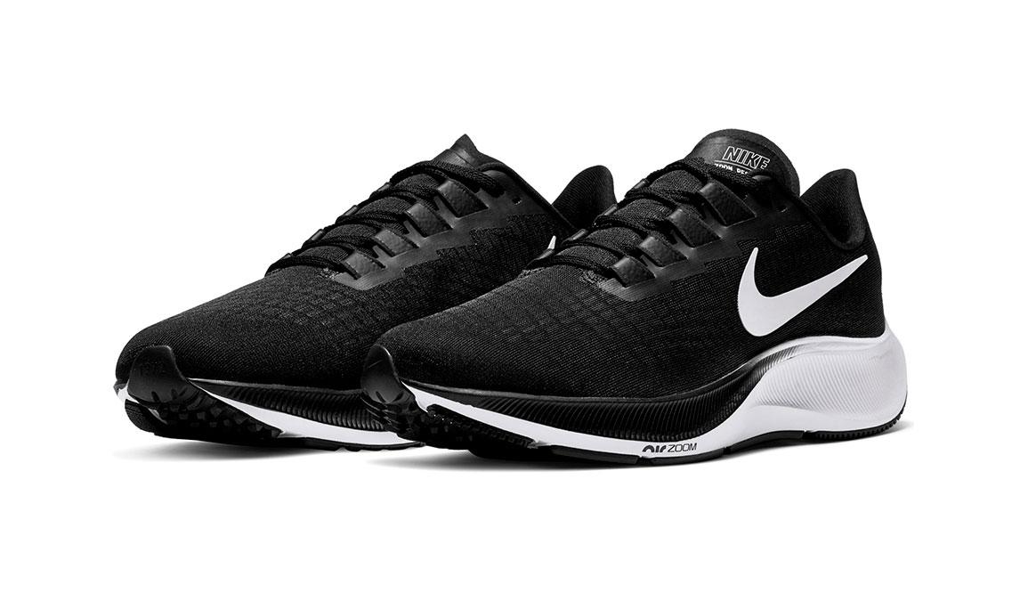 Men's Nike Air Zoom Pegasus 37 Running Shoe - Color: Black/White (Regular Width) - Size: 7, Black/White, large, image 3