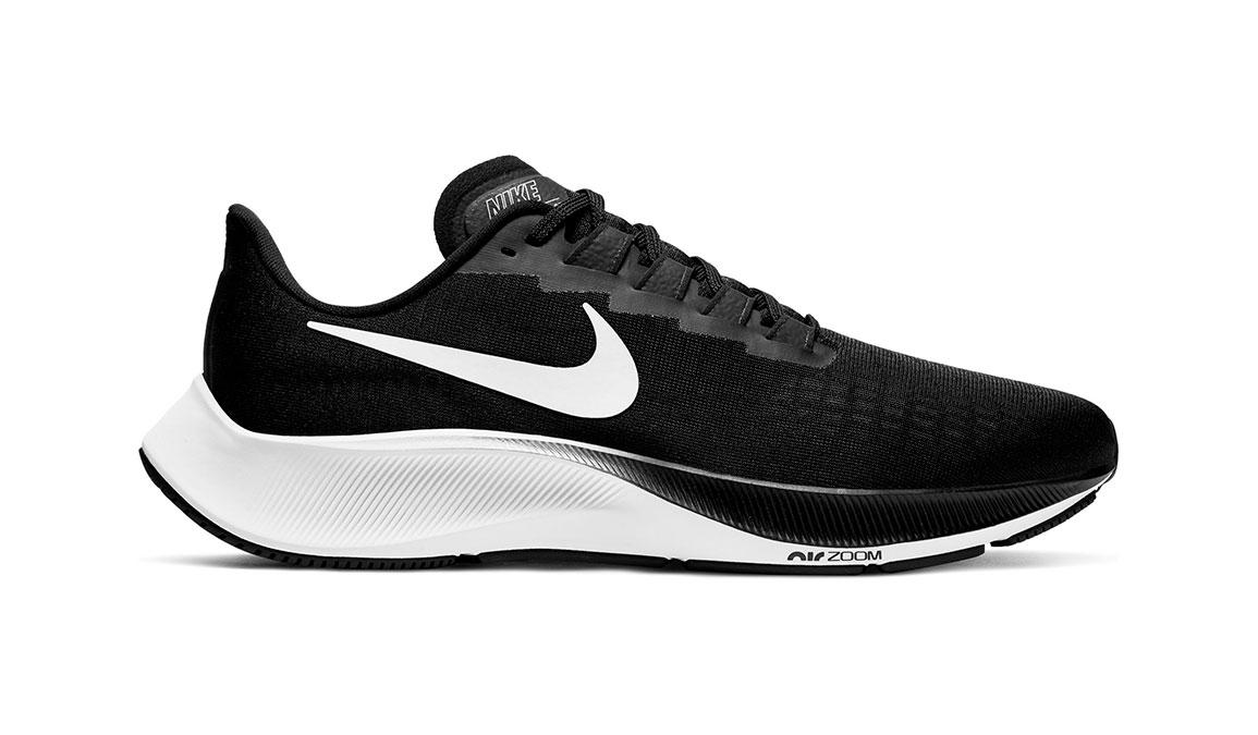 Men's Nike Air Zoom Pegasus 37 Running Shoe - Color: Black/White (Regular Width) - Size: 7, Black/White, large, image 1