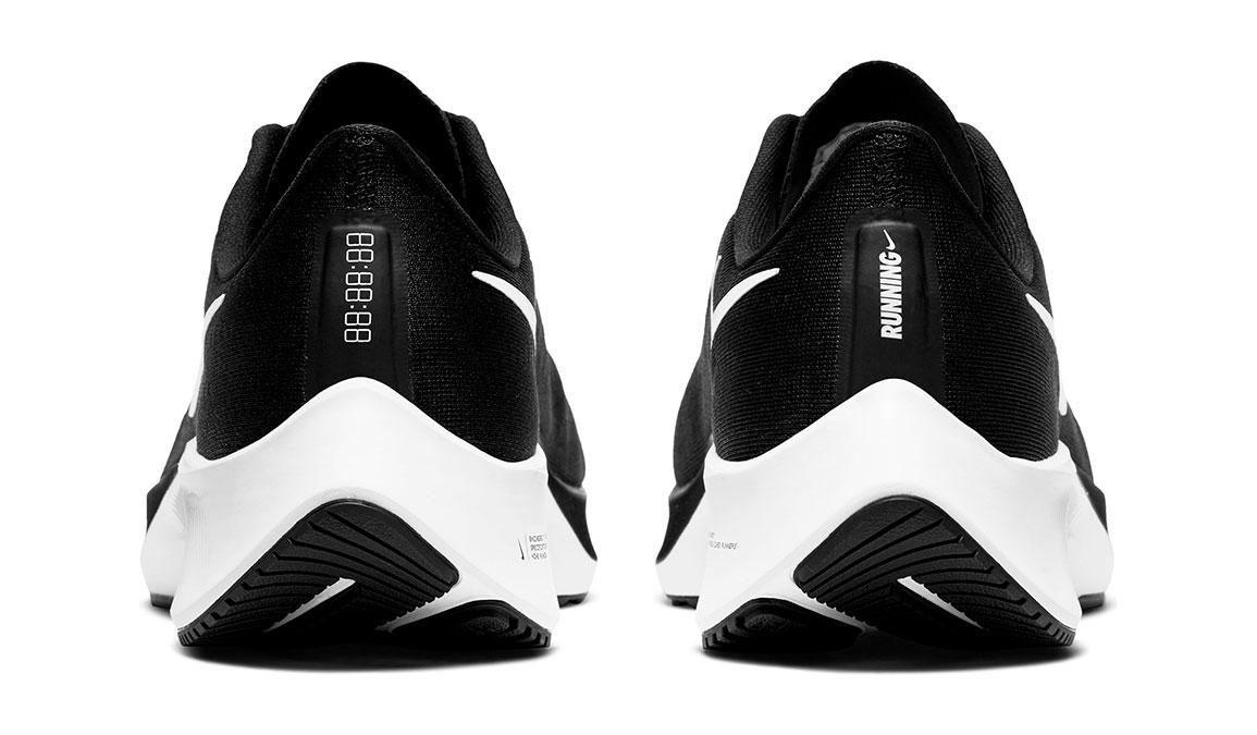 Men's Nike Air Zoom Pegasus 37 Running Shoe - Color: Black/White (Regular Width) - Size: 7, Black/White, large, image 4