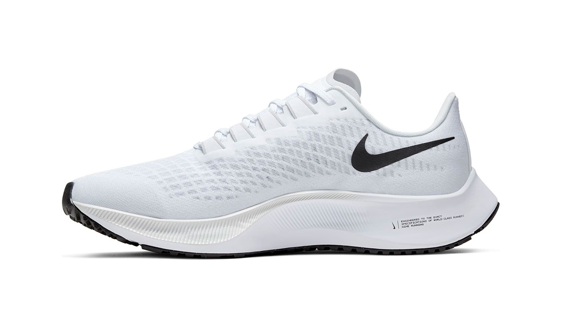 Men's Nike Air Zoom Pegasus 37 Running Shoe - Color: White/Black/Pure Platinum (Regular Width) - Size: 7, White/Black/Pure Platinum, large, image 2