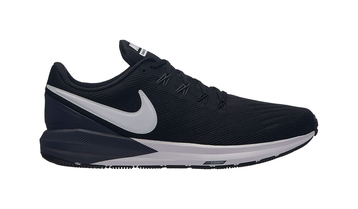Men's Nike Air Zoom Structure 22 Running Shoe - Color: Black/White/Gridiron (Regular Width) - Size: 12.5, Black/White/Gridiron, large, image 1