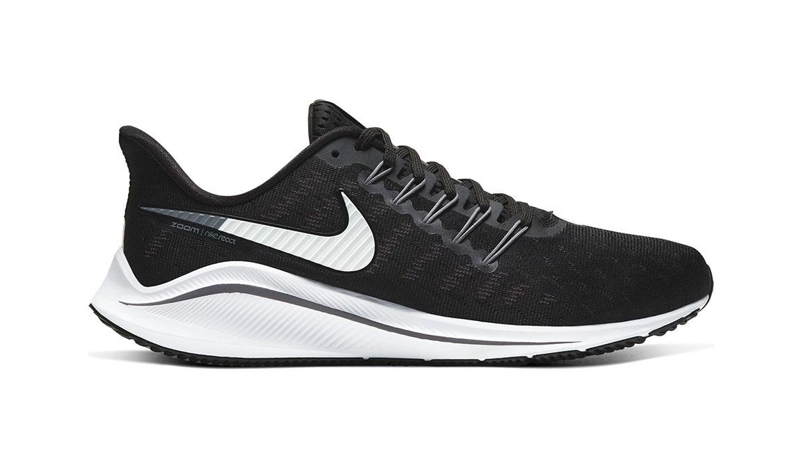 Men's Nike Air Zoom Vomero 14 Running Shoe - Color: Black/White/Grey (Regular Width) - Size: 9, Black/White/Grey, large, image 1