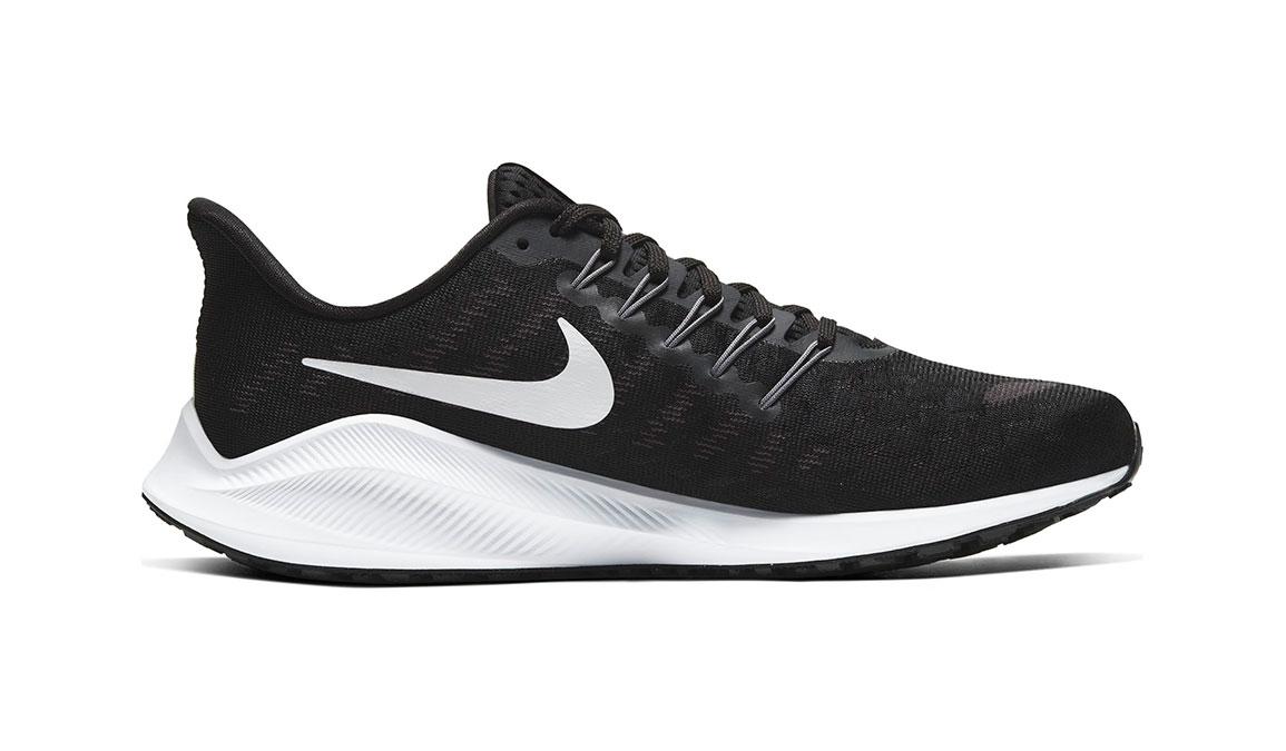 Men's Nike Air Zoom Vomero 14 Running Shoe - Color: Black/White/Grey (Regular Width) - Size: 9, Black/White/Grey, large, image 2