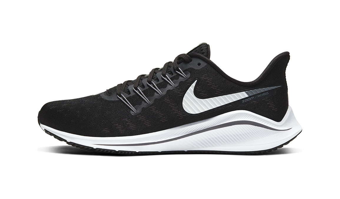 Men's Nike Air Zoom Vomero 14 Running Shoe - Color: Black/White/Grey (Regular Width) - Size: 9, Black/White/Grey, large, image 3