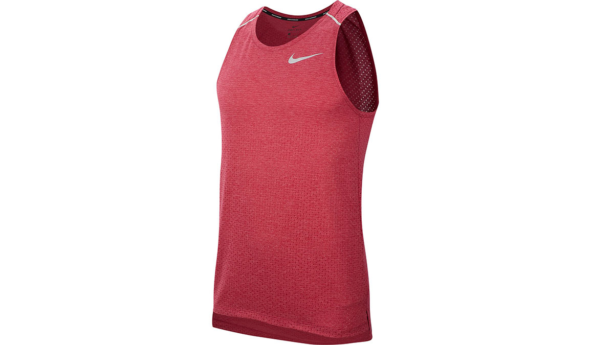 Men's Nike Breathe Rise 365 Running Tank - Color: Noble Red/Heather Size: S, Noble Red/Heather, large, image 2