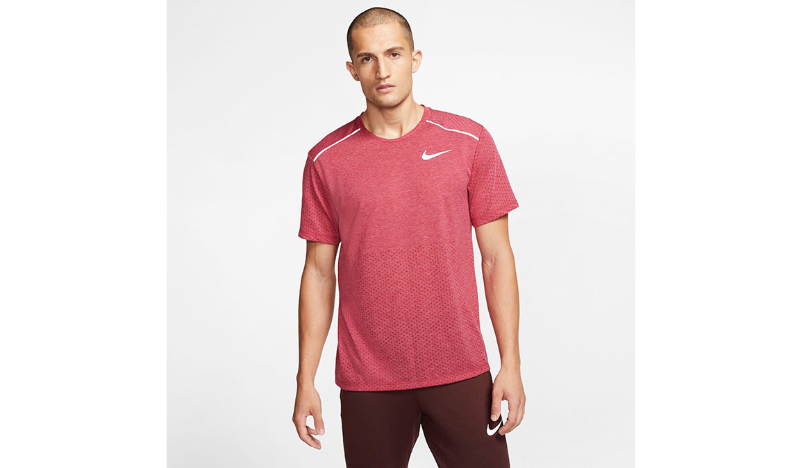 Men's Nike Rise 365 Running Top - Color: Noble Red/Heather Size: XL, Noble Red/Heather, large, image 1