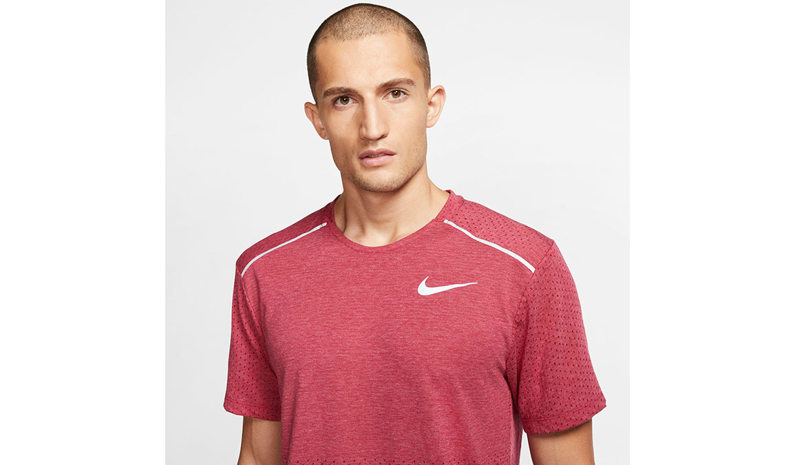 Men's Nike Rise 365 Running Top - Color: Noble Red/Heather Size: XL, Noble Red/Heather, large, image 3