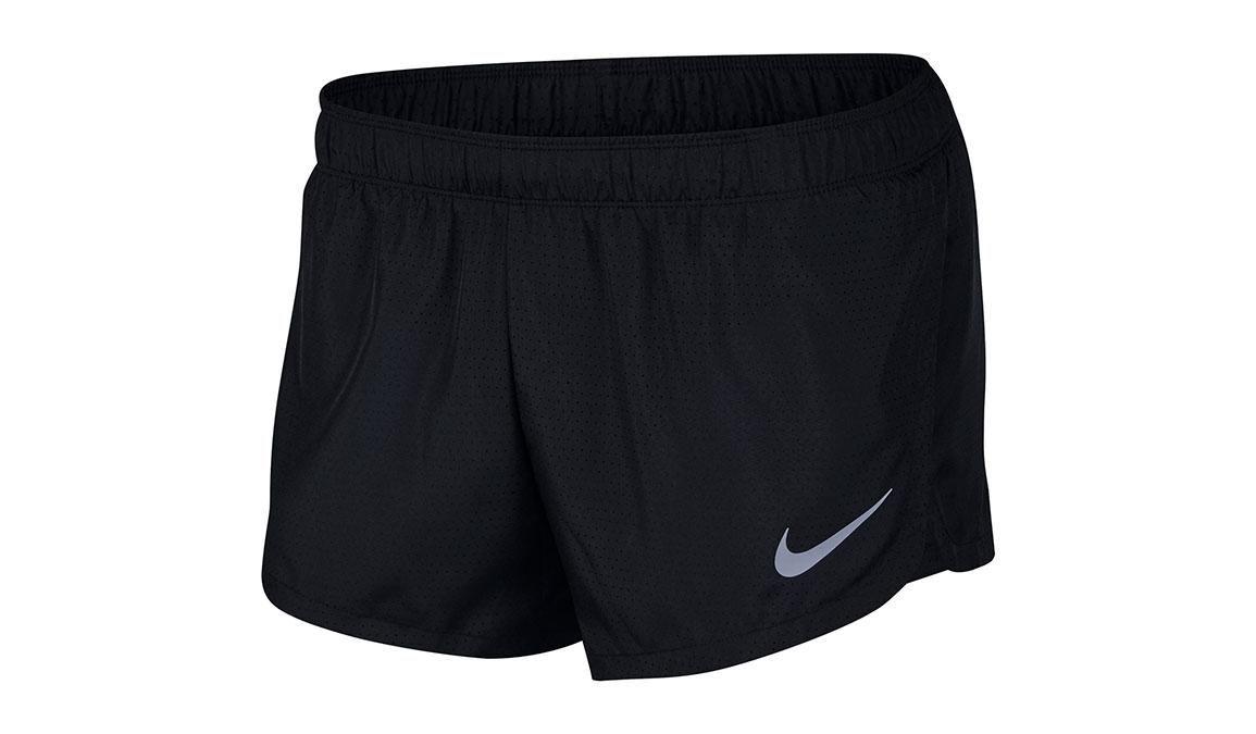 """Men's Nike Dri-Fit 2"""" Fast Shorts - Color: Black/Reflective Silver Size: XL, Black/Reflective Silver, large, image 1"""