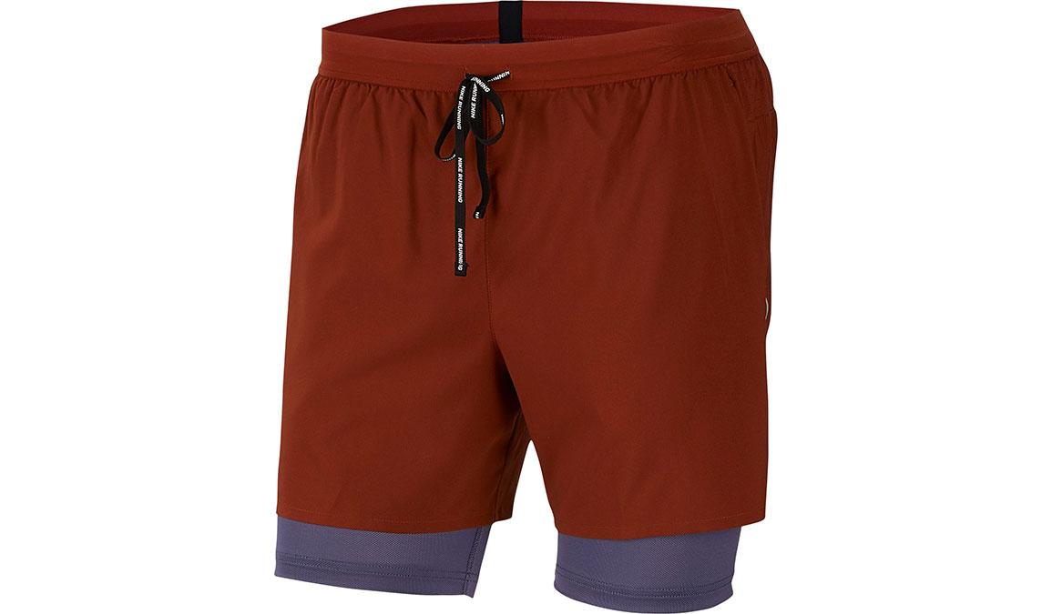 "Men's Nike Dri-FIT Flex Stride 7"" 2-in-1 Shorts - Color: Cinnamon/Sanded Purple Size: S, Cinnamon/Sanded Purple, large, image 1"
