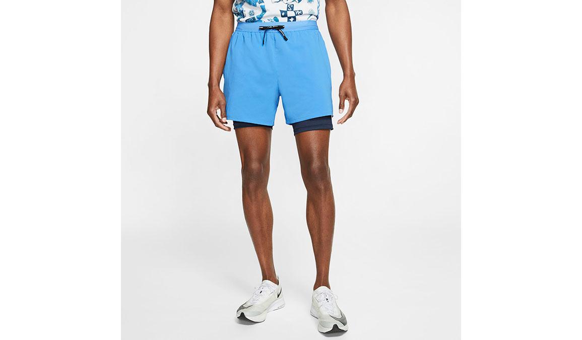 """Men's Nike Dri-FIT Flex Stride 7"""" 2-in-1 Shorts - Color: Pacific Blue Size: L, Pacific Blue, large, image 1"""