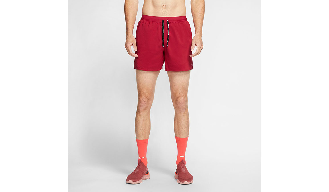 """Men's Nike Dri-FIT Flex Stride 5"""" Shorts - Color: Noble Red/Reflective Silver Size: M, Noble Red/Reflective Silver, large, image 1"""