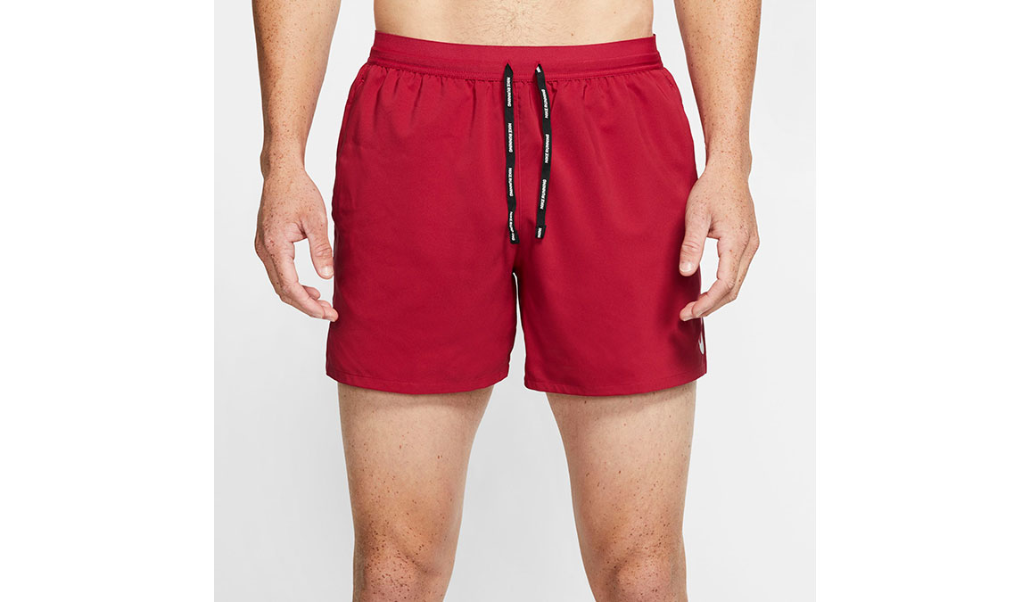"""Men's Nike Dri-FIT Flex Stride 5"""" Shorts - Color: Noble Red/Reflective Silver Size: M, Noble Red/Reflective Silver, large, image 2"""