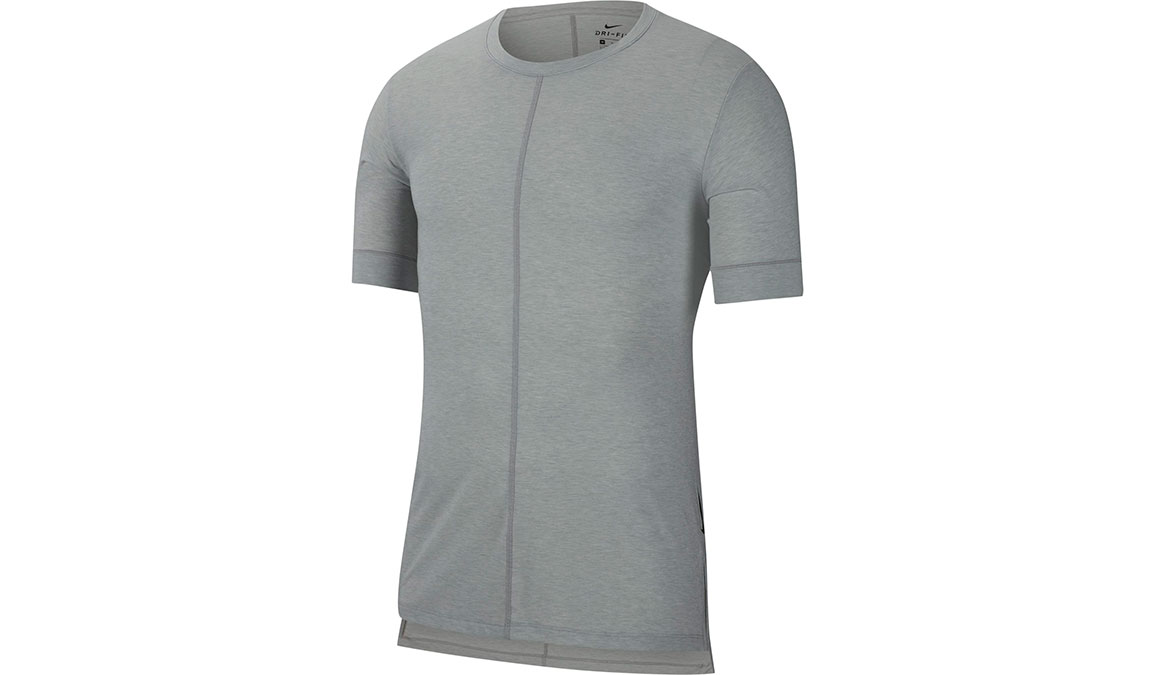 Men's Nike Dri-FIT Yoga Short Sleeve Top - Color: Light Smoke Grey/Heather Size: S, Light Smoke Grey/Heather, large, image 4