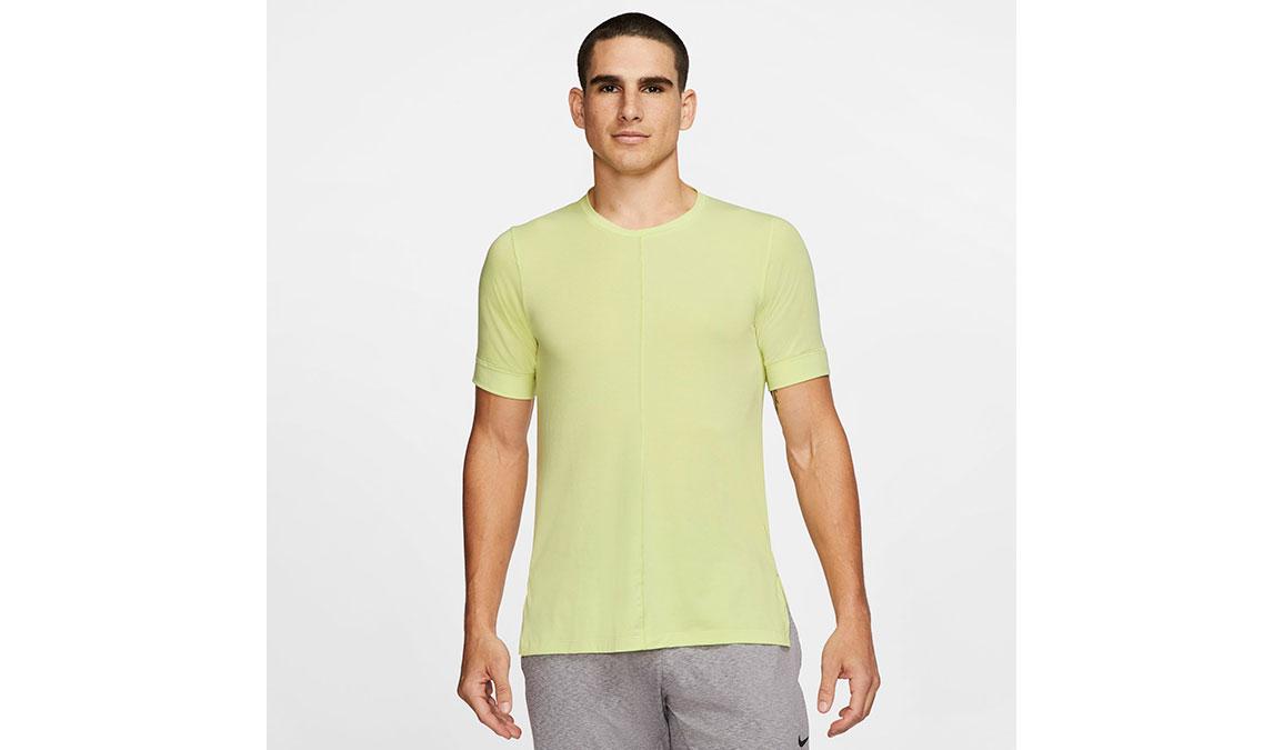 Men's Nike Dri-FIT Yoga Short Sleeve Top - Color: Limelight Size: S, Limelight, large, image 1
