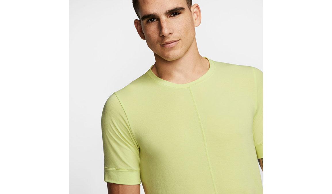 Men's Nike Dri-FIT Yoga Short Sleeve Top - Color: Limelight Size: S, Limelight, large, image 2