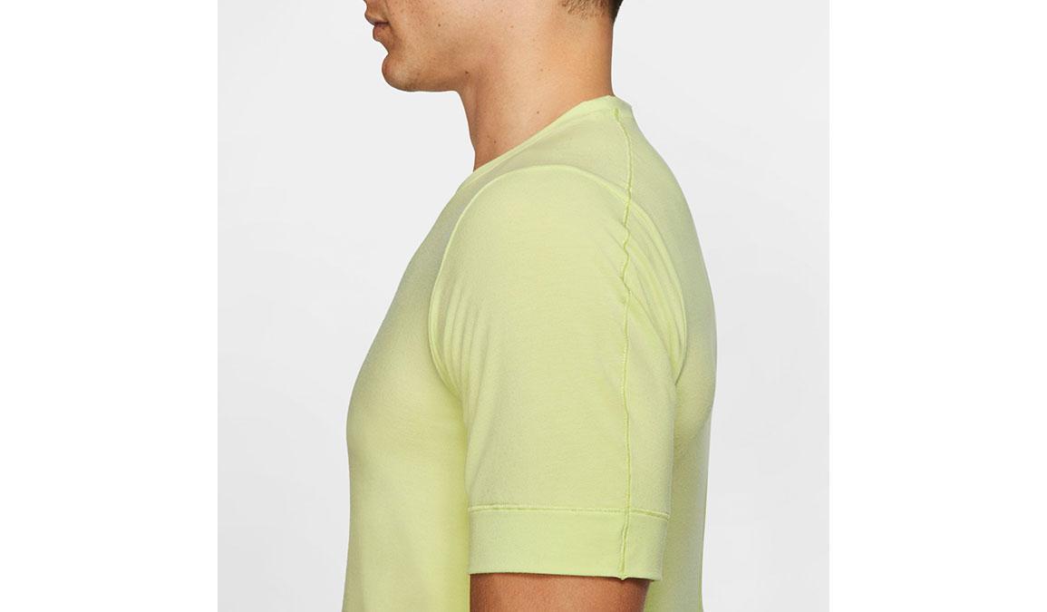 Men's Nike Dri-FIT Yoga Short Sleeve Top - Color: Limelight Size: S, Limelight, large, image 3
