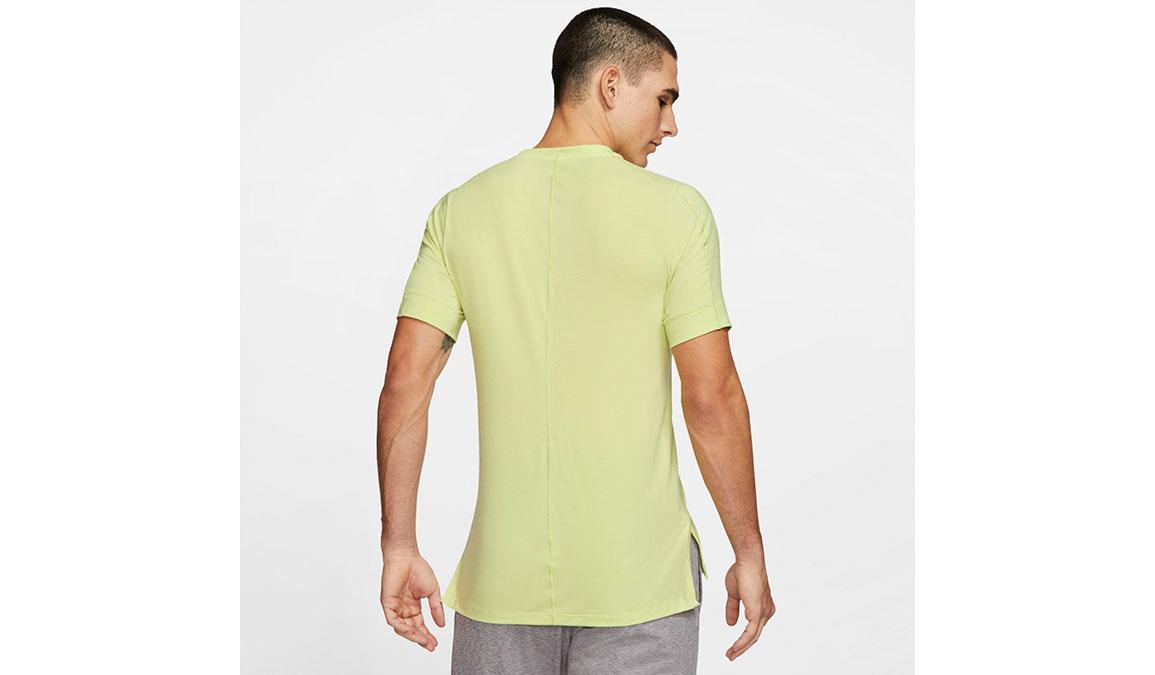 Men's Nike Dri-FIT Yoga Short Sleeve Top - Color: Limelight Size: S, Limelight, large, image 4
