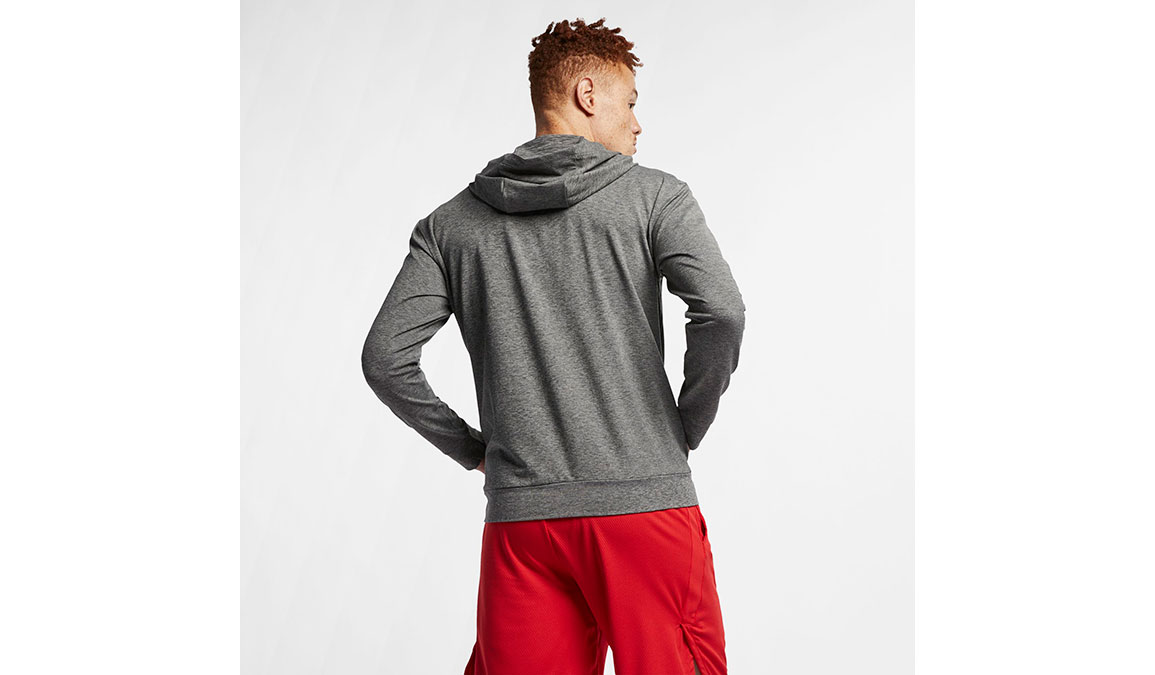Men's Nike Dry-Fit Training Hoodie - Color: Black/Heather Size: XS, Black/Heather, large, image 4