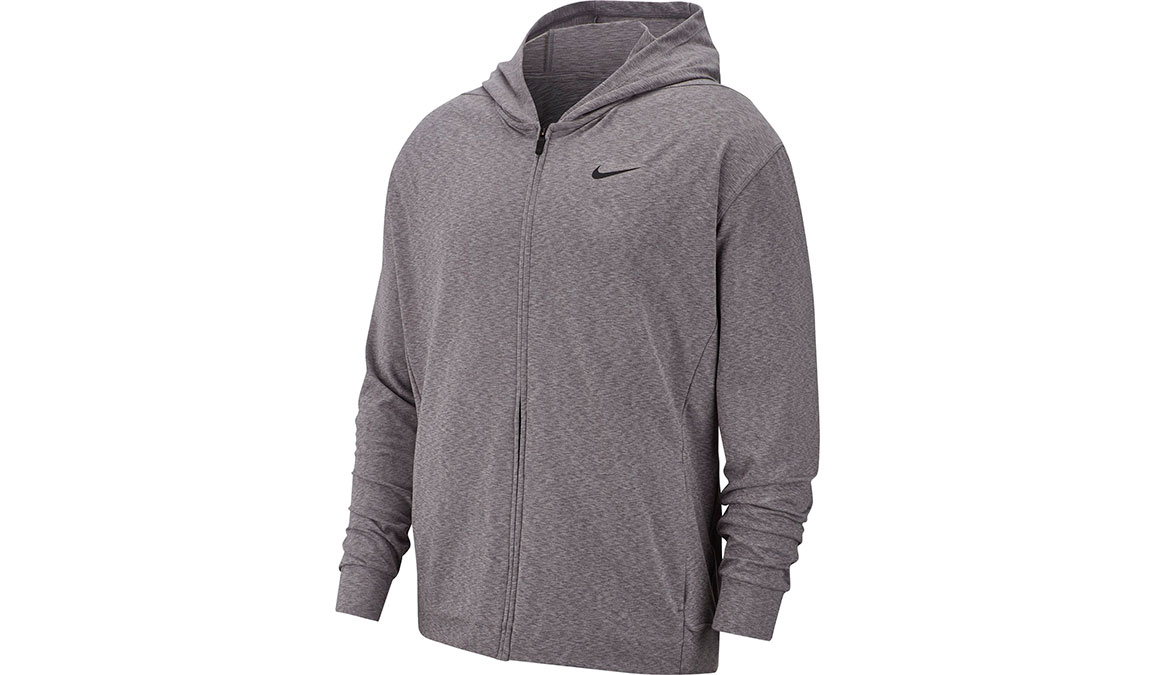 Men's Nike Dry-Fit Training Hoodie - Color: Gunsmoke/Heather/Black Size: S, Gunsmoke/Heather/Black, large, image 1